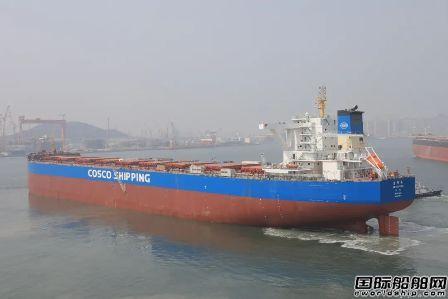 北船重工21万吨散货船2号船试航凯旋