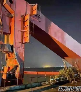 悲喜两重天?新时代造船突发龙门吊倒塌事故