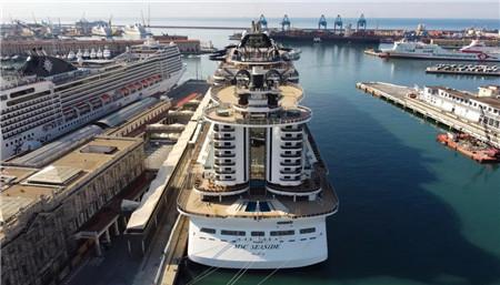 """""""地中海海岸线""""号邮轮正式在地中海区域复航"""