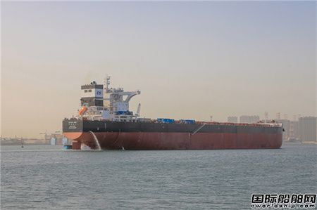 北船重工18万吨散货船53号船起航海试