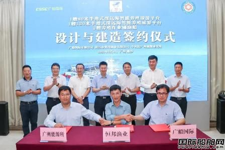广船国际签约将建广东首个大型半潜式养殖旅游综合平台