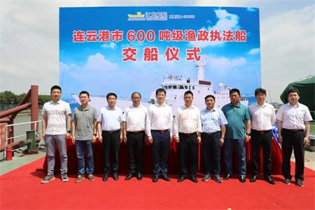 江龙船艇交付最新一代600吨级最大型公务执法船
