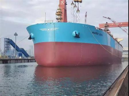 大船集团稳步推进马士基油轮11万吨油船3号船建造