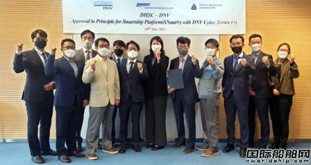 大韩造船自主开发智能船舶平台获DNV船级社认证