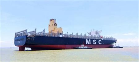 文冲修造又一艘集装箱船脱硫改装项目出厂试航