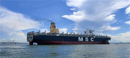 """文冲修造第5艘脱硫项目改装船""""MSCEVA""""轮凯旋归来"""
