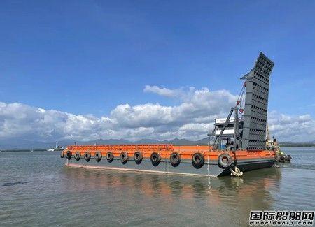航通船业自主设计建造两艘49.8米甲板驳同时交付