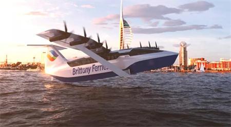 外形像飞机速度赛高铁!法国航运公司推出全新渡轮