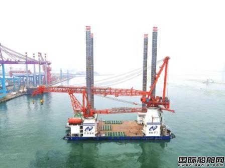 大津重工联合武汉船机交付700吨自升式风电作业平台