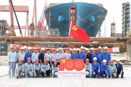 沪东中华长兴基地1号船坞改造主体结构顺利完工