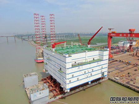 振华重工建造世界最大海上换流站发运
