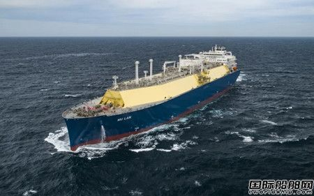 """完成交付前""""大考""""! 沪东中华中船租赁LNG项目首船完成气体试航"""