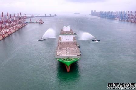 刷新全球最大纪录!长荣海运首艘2.4万箱船首航