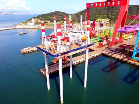 """武汉船机总包建造""""中国三峡101""""平台圆满完成升降试验"""