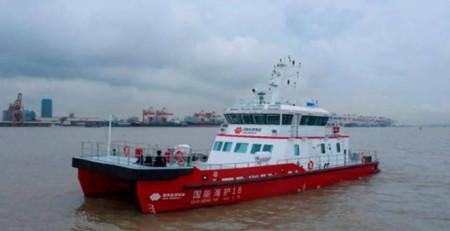 华海造船一艘海上风电运维船试航成功