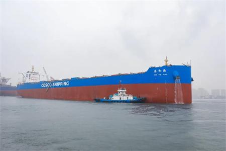 北船重工21万吨散货船3号船海试