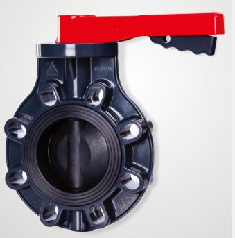 厦门三厘工业塑胶PVC电动气动把手式蝶阀