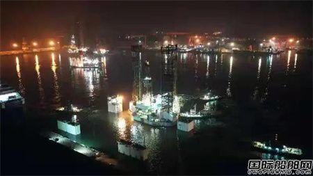 威海金陵完成南海一号平台上驳坞修工程