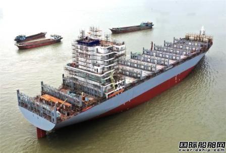 黄埔文冲两艘2038TEU集装箱船完成重要节点
