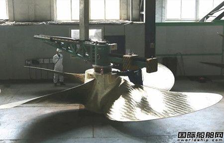 大连船推提前交付广船国际首套12万吨双燃料油轮螺旋桨