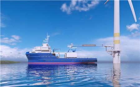 重磅!国内风电运维母船首次引进六自由度波浪补偿舷梯