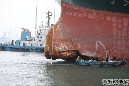 """""""长赐""""轮抵达北船重工进厂维修"""